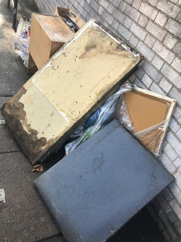 Household waste - furniture & building materials -189a Shrewsbury Road, London, E7 8QH