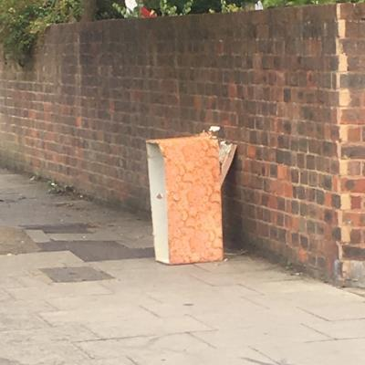 Fly tipping at end of Grazebrook Road-3 Grazebrook Rd, Stoke Newington, London N16 0HZ, UK