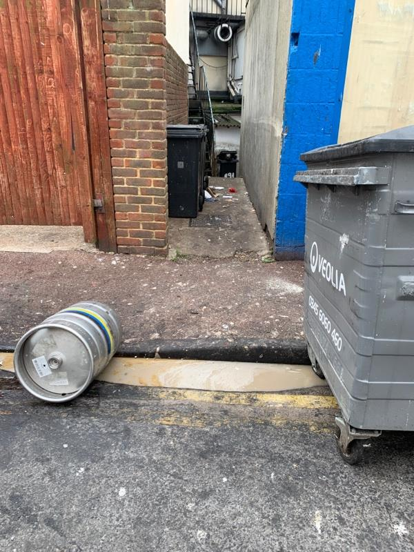 A restaurant/restaurants empty oil into the drain   Using fly tipping as no suitable category-37 Elms Ave, Eastbourne BN21 3DN, UK
