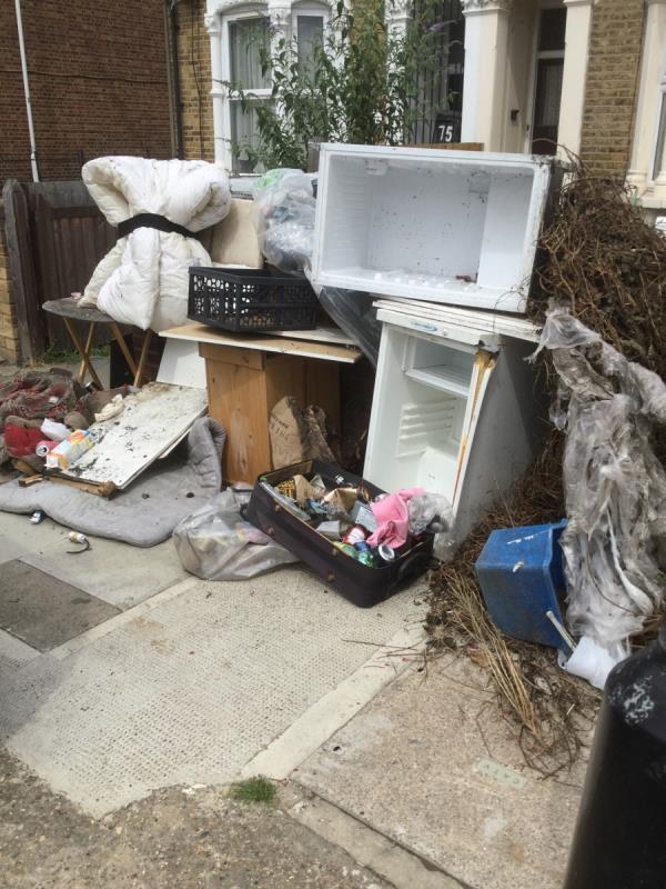 Various waste outside 77 causing highway obstruction  image 2-78 Gurney Road, London, E15 1SL