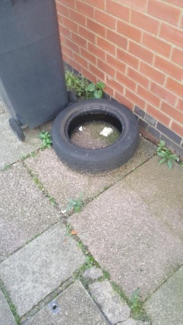 nxt to 96 warwick st. tyre dumped-8 Tyrrell St, Leicester LE3 5SA, UK