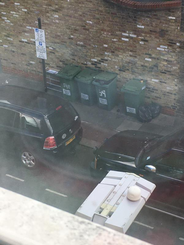Bags and some other rubbish beside bine in Waterloo road side of Coffee Hut E6 1AP-39 Plashet Grove, East Ham, E6 1AD