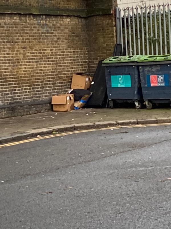 Fly tipping -Plaistow Station Plaistow Road, London, E13 0DX