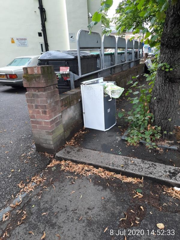 Dumped fridge/freezer-Bruce Castle Court, Lordship Ln, Tottenham, London N17 6RR, UK