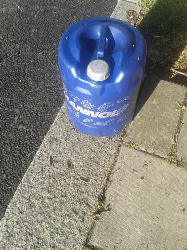 Please clear container on unknown liquid. Appears full-109 Whitefoot Lane, Bromley, BR1 5SJ