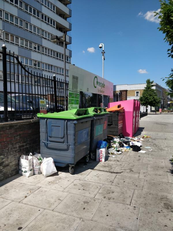 Flytipping beside Henniker Point Leytonstone Road E15-Henniker Point Leytonstone Road, London, E15 1JY