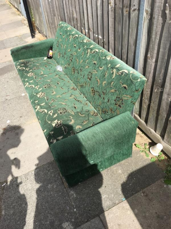 Sofa has been left by the side of the street-1 Morley Road, London, E15 3HF