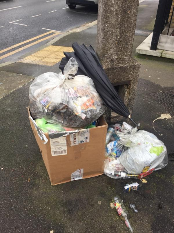 Household rubbish address of resident on the box  image 1-72a Field Road, London, E7 9DL