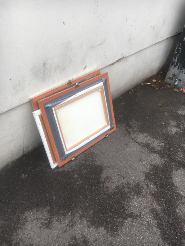 Paintings dumped on the corner of Hale Road and Stokes Road E6 -69 Stokes Road, East Ham, E6 3SF
