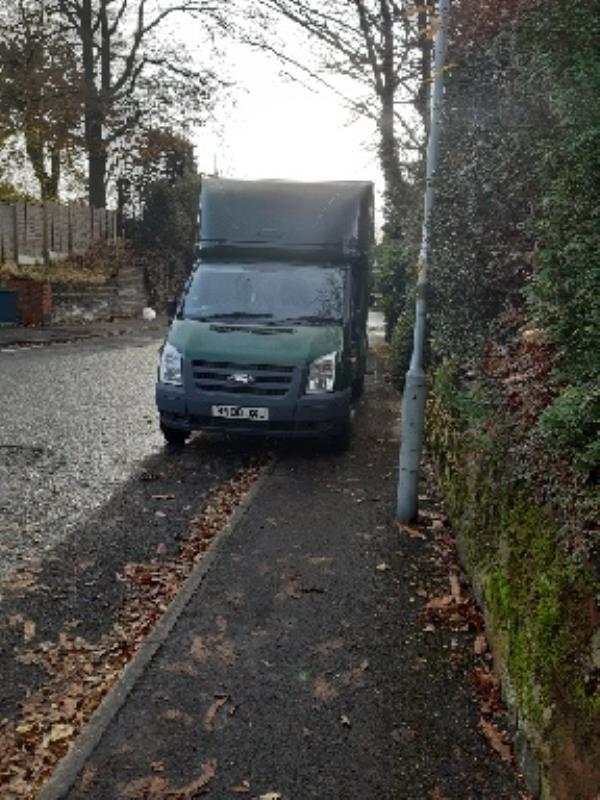 Vehicles regularly blocking pavement. -62 Goldthorn Road, Wolverhampton, WV2 4PN