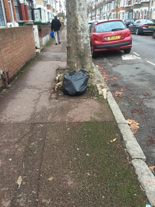 Rubbish dump -107 Shelley Avenue, London, E12 6