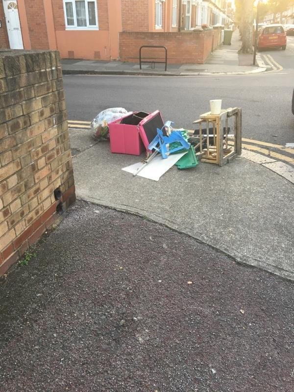 Fly tipping -82a Mitcham Road, London, E6 3LU