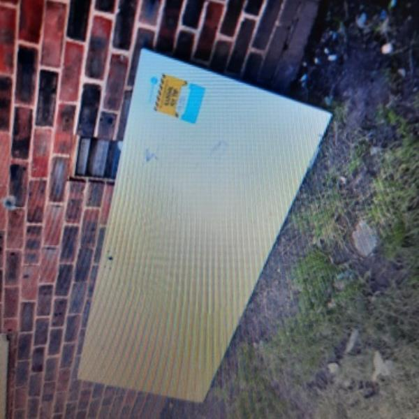 seesl- Fly-tipped white door in Bute Court along with Fly-tipped household items in EBC owned alleyway behind court.  NFZ2 -24 Midhurst Road, Eastbourne, BN22 9HW