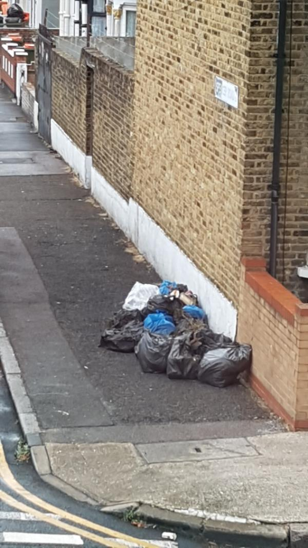 every day fly tipping at this location...Newham enforcement  take action-130 Grangewood Street, East Ham, E6 1HB