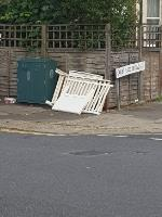 dumped rubbish fly tipping junction of willingdon rd and lakefield rd-47 Willingdon Road, London, N22 6SE