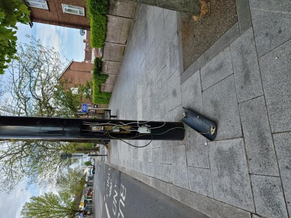 Cover on column fallen off-1 Trinity Rd, Southall UB1 1EP, UK
