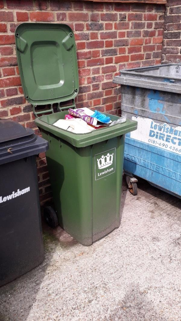 Missed Recycling collection for third week. Reported by Lewisham Homes-25 Bryden Close, London, SE26 5LL