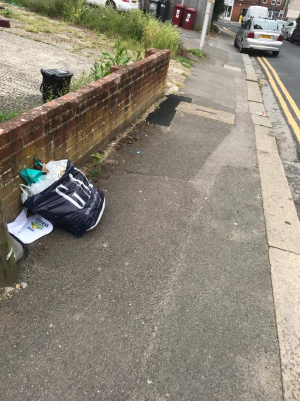 Fly tipping outside no 14 St. Peter's road , rg6-16 Saint Peter's Road, Reading, RG6 1NT