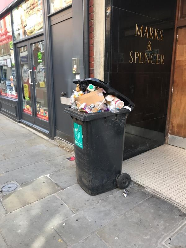 This is the 3rd time I've reported this bin still outside our offices in cross street... please let me know when it will be emptied!!-22 Cross Street, Reading, RG1 1SN