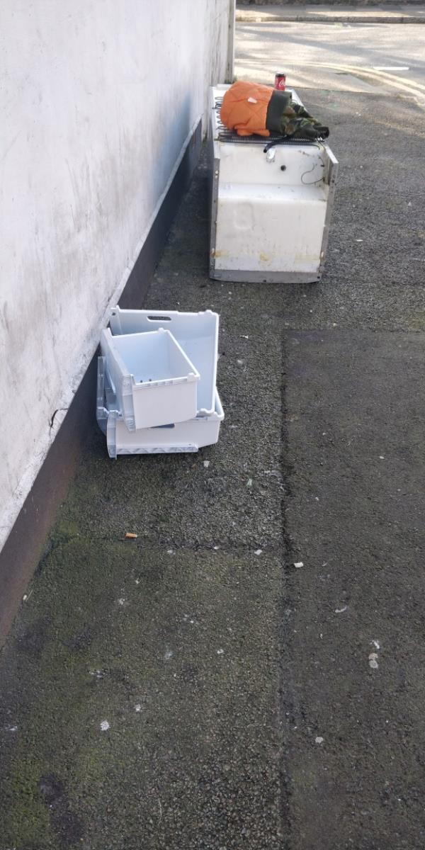 Dumped fridge-139 Upton Park Road, London, E7 8LA
