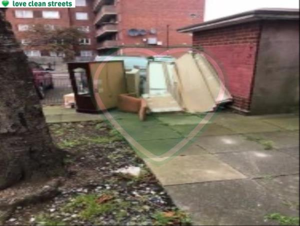 Please clear flytip-Maple House Idonia Street, London, SE8 4LS