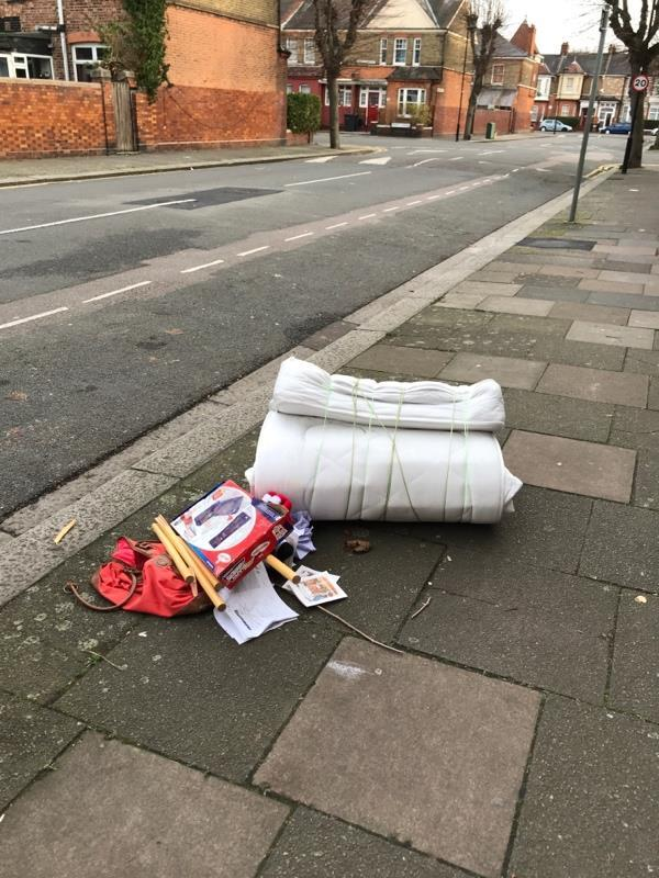 Dumped mattress and other general waste-172 Lymington Avenue, London, N22 6
