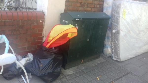2 mattresses and household wastes dumped near 86 Harold Road junction with Churston Avenue -115 Harold Road, Plaistow, E13 0RJ