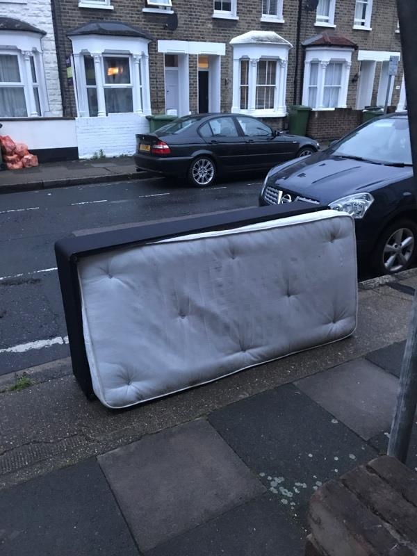 Someone has dumped a mattress outside of our house.-63 Glenavon Rd, London E15 4EZ, UK