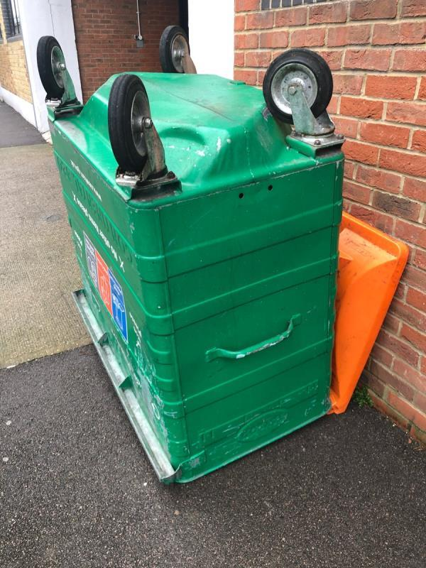 Damaged Recycling Bin needs to be replaced-Spectacle Works 1a Jedburgh Road, Plaistow, E13 9LX