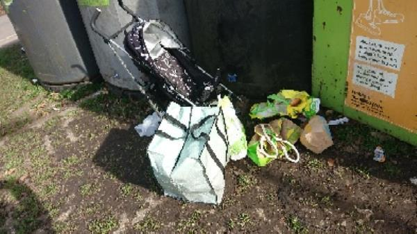 House old waste removed fly tipping on going at this site -Prospect Park Pavilion Liebenrood Road, Reading, RG30 2ND