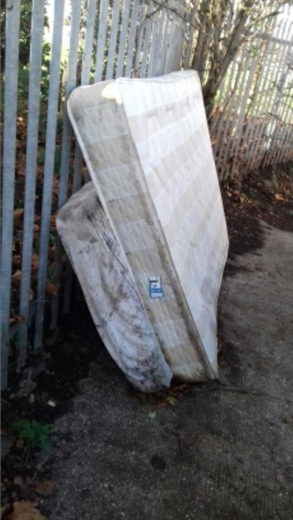 2 mattresses dumped near 1 Old Street junction with Pragel Street -3 Old St, Plaistow, London E13 9EG, UK