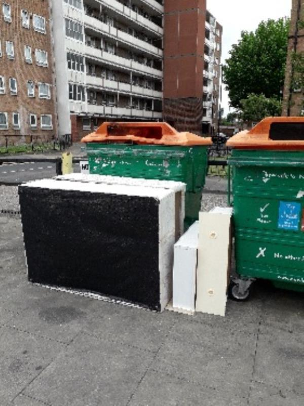 fly tip-64A Plashet Grove, Upton Park, London E6 1AE, UK