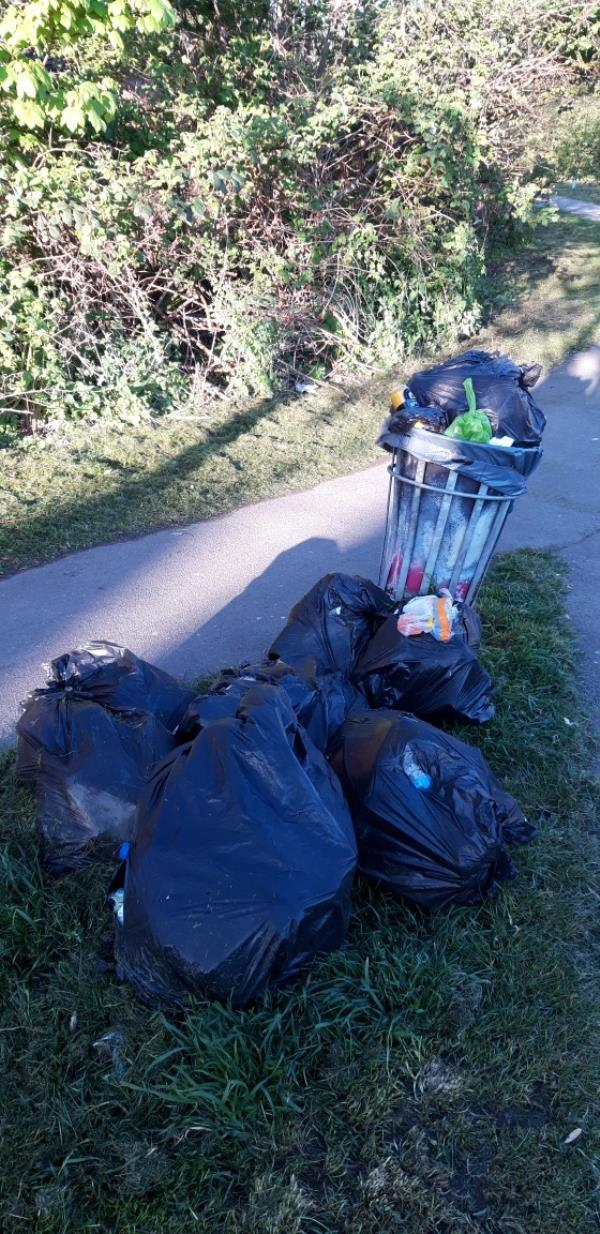 Bin overflowing -3 Mill Road, Reading, RG4 8DP