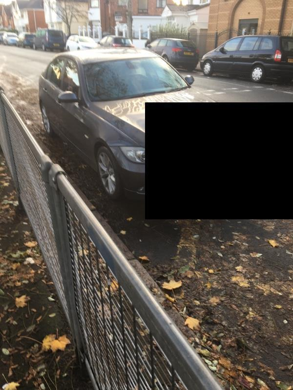 Parking directly outside school. Very dangerous place.  Continually happening.  -8 Evington Dr, Leicester LE5 5PB, UK