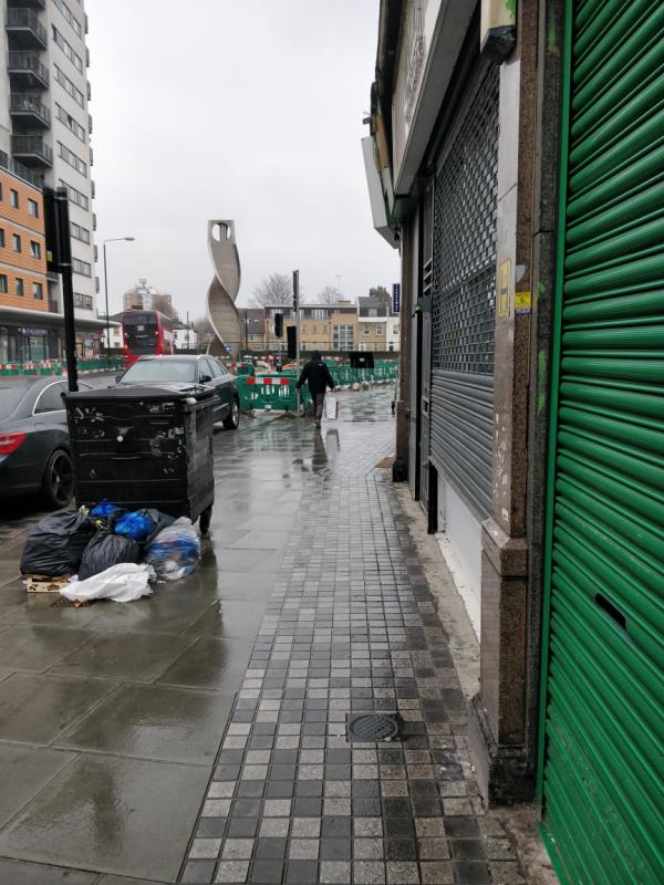 Flytipping Beside 61 Leytonstone Road E15-65a Leytonstone Road, London, E15 1SE