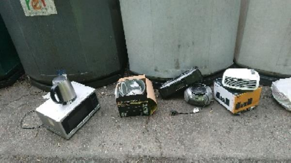 Electrical appliances fly tipped removed. and recycled. -Wessex Gate Shinfield Road, Reading, RG2 7BJ