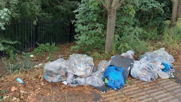 Fly tipping-Lonsdale Avenue (Stop BH), London E6 3RT, UK