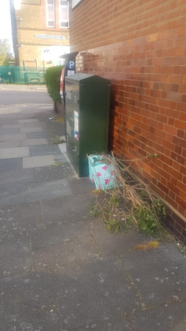 dumped rubbish fly tipping corner of Darwin rd and Gladstone ave -196 Gladstone Avenue, London, N22 6LE