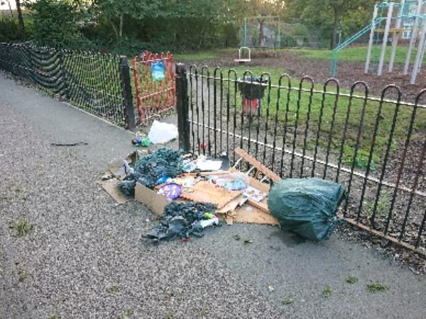Fly tipping -7 Stephenson Dr, Leicester LE3 9AD, UK