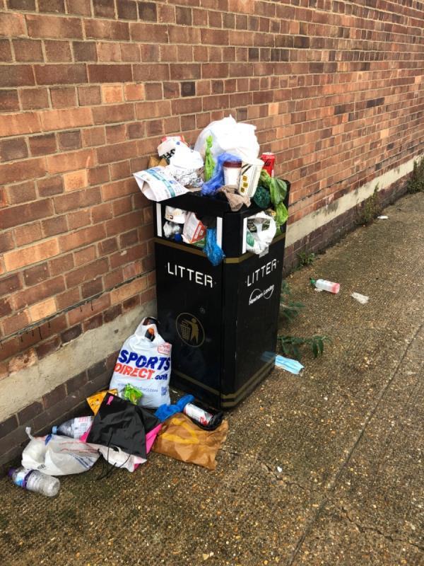 Please empty the bin. -A12, London E3, UK