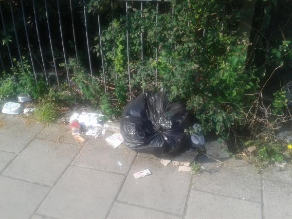 Please clear dumped bags-129 Moorside Road, Bromley, BR1 5EP