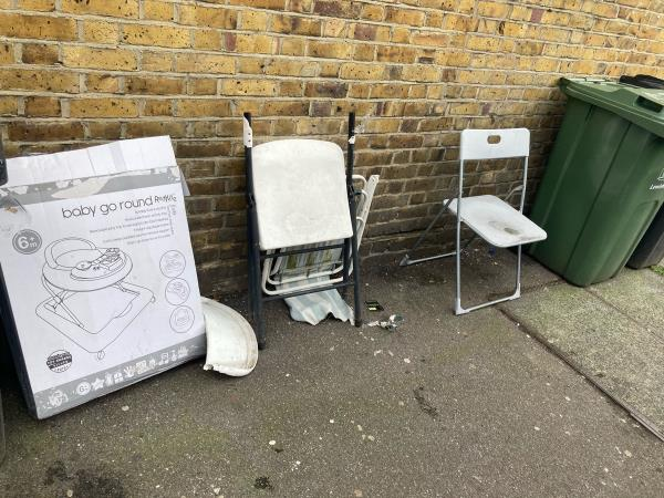 3 chairs dumped here, many thanks in advance to the Lewisham clean streets team!-74-76 Rushey Green, London, SE6 4HW