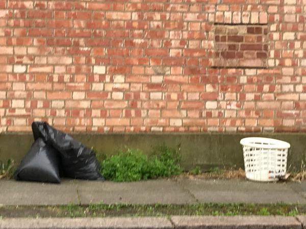 Bags of earth/ sportsbank Street -17 Laleham Road, London, SE6 2HS