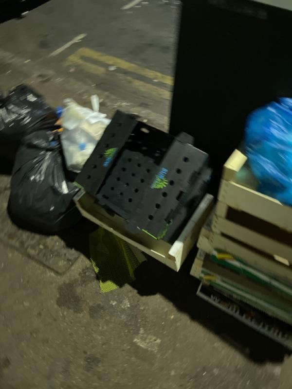 Rubbish dumped  image 1-370 High St N, Manor Park, London E12 6PG, UK