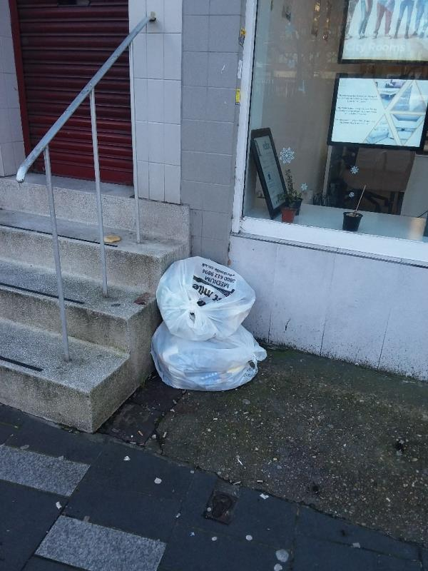 Litter and Bin Bags left at this location-48 Broadway, London, E15 1NG