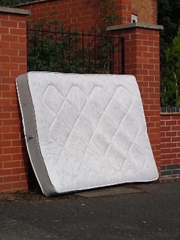 Mattress found on HAND AVENUE (odd) near BENDBOW RISE. -131 Hand Avenue, Leicester, LE3 1SP