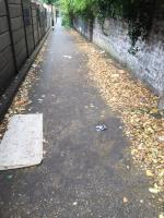 Always rubbish along this walkway. Please install a bin and add to your street cleaning routes.  image 2-Evelyn Ct, Clapton, London E8 2BN, UK