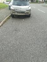 Prev. Reported Dangerous damaged silver astra Vauxhall car reg. has since been removed but 2 front tyres missing and are under the car parked on road car adj. To no. 42 Oldfallings crescent  image 1-50 Old Fallings Crescent, Wolverhampton, WV10 9PS