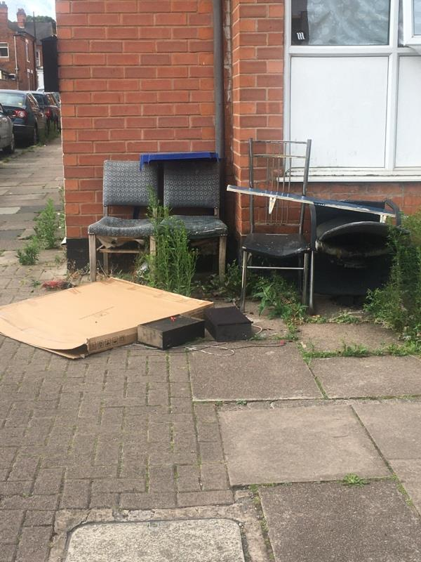 Second time report now more rubbish -40 Danvers Road, Leicester, LE3 2AD