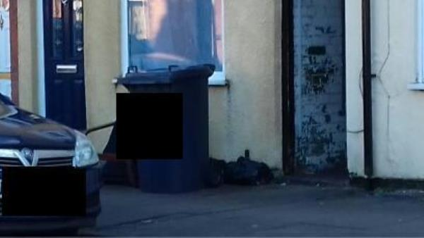 outside a house on pool road, empty boxes and a wooden chair...Been there for over a week.-152 Pool Road, Leicester, LE3 9GF